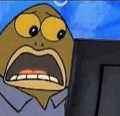 Meme Faces, Funny Faces, Funny Spongebob Faces, Cute Memes, Dankest Memes, Jokes, Funny Reaction Pictures, Funny Pictures, Current Mood Meme