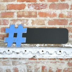 Hashtag Chalkboard 9x24 - The Original - Twitter trending tweets, many colors available