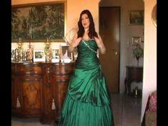 abiti da cerimonia verde smeraldo da principessa