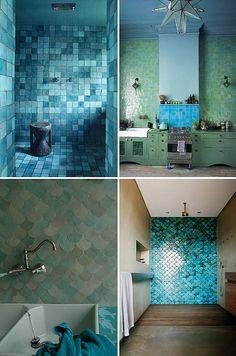 Blue tiles love