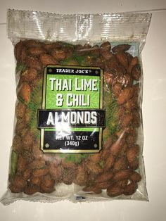 TRADER JOE's Thai Lime and Chili Almonds 12 oz 340g bag Appetizer Snack #TraderJoes