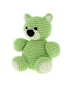 Hoooked Billie Bear (lime) amigurumi crochet kit & pattern #crochet #gift #cute #animal #craft