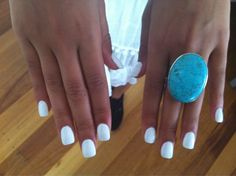 Love white nails in the summer. Makes a tan really pop