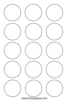 1 inch circle template printable and many other sizes bottle cap