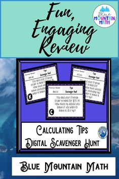 Looking for a fun, engaging activity that gets the kids moving and talking about math? In this resource, students practice calculating tips on meals and you can choose between a printed activity or digital (self-grading) activity. The printed activity works great in the classroom while the digital activity can be used for distance learning or absent students.