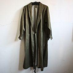 40's Dead Stock British Army Green Denim Wrap Work Coat