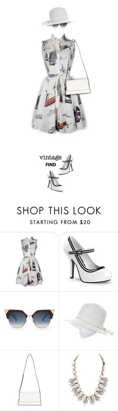"""Something Vintage - New contest in Invisible Dolls"" by kiki-bi ❤ liked on Polyvore featuring Fendi, Lord & Taylor, DKNY, Charlotte Russe and vintage"