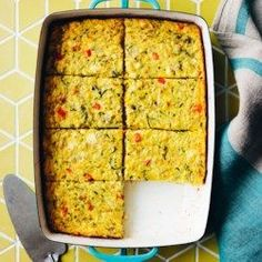 Zucchini, Corn & Egg Casserole - EatingWell.com. Omit butter, cheese and flour or replace with buckwheat flour.