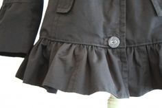 jacket redo - cut off bottom & form into ruffle to reattach - darling