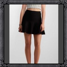 Flare Hem Body-con Skirt This flared hem body-con skirt from Aeropostale features a stylish flouncy hem which will be a go-to piece on numerous occasions. 98% polyester, 2% spandex. Machine wash/dry. NWT. Aeropostale Skirts Mini