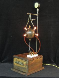 Mad Scientist Steampunk Diabolical Box 20. $675.00, via Etsy.
