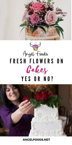 Is it ok to use fresh flowers on cakes? Learn more here! #cakeadvice #flowersoncakes #bakingadvice #cakesandflowers Cake Business, Business Advice, Fresh Flower Cake, Fresh Flowers, Recipe For Success, Cake Makers, Good Tutorials, Business School, Make More Money