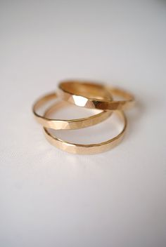 Extra Thick Gold Stack rings Set of 3 Gold Stack par hannahnaomi