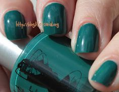 Hot Ticket by the Balm in Let's Make a Teal! Click thru for swatches and review.