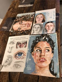 Gcse Art Sketchbook Portraits Paintings 43 Ideas - A Level Art Sketchbook - Art Inspo, Kunst Inspo, Sketchbook Inspiration, Art Journal Inspiration, Journal Ideas, Wedding Inspiration, A Level Art Sketchbook, Sketchbook Layout, Arte Sketchbook
