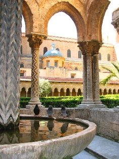 The Norman Cathedral of Monreale, Palermo, Sicily - Beautiful Islamic architecture built by Roger in the time of the Crusades.