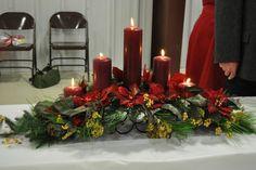 Espectaculares centros de mesa con flor de Nochebuena o Pascua - Dale Detalles