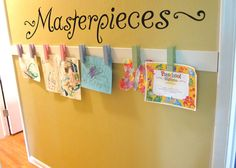 "MASTERPIECES Wall Decal Vinyl Wall Sticker For Kids ART Display Quote up to 42"" wide on Etsy, $16.00"