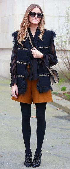 We Can Add Tights to Our Favorite Summer Styles Like Olivia Palermo