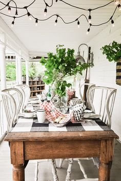 Summer BBQ On Our Farmhouse Porch - Liz Marie Blog