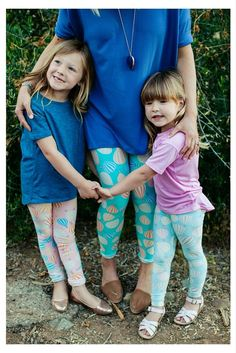 Mommy and Me leggings, need this for myself and the girls - not this print though!