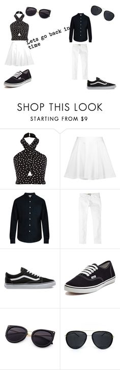 """""""B&W"""" by amandavipul on Polyvore featuring Alice + Olivia, Simon Miller, MANGO MAN and Vans"""
