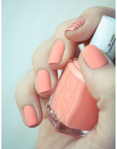 "essie ""tart deco"" - my current color for a peachy valentine mani - pop of color in february."