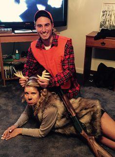 Deer and hunter Halloween costume #deer #hunter