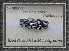 Open Weave Ring sterling silver artisan crafted by lovethembeads