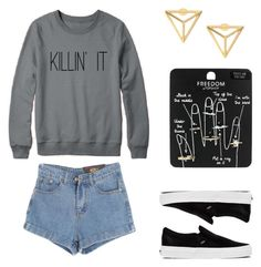 """""""Killin' It"""" by morgen-herndon ❤ liked on Polyvore featuring Topshop, Chicnova Fashion and Vans"""
