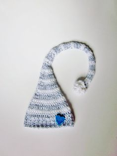 Gray and White Gender Reveal Hat