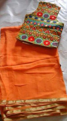 Simple Sarees, Trendy Sarees, Fancy Sarees, Sari Blouse Designs, Saree Blouse Patterns, Indian Dresses, Indian Outfits, Maggam Work Designs, Kerala Saree