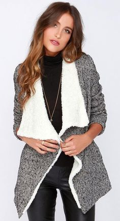 Snow Bunny Outfit essentials - warm and cozy wrap sweater from LuLus