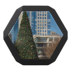 Christmas Downtown Dallas Black Bluetooth Speaker - photography gifts diy custom unique special