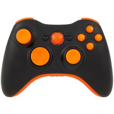 Black with Orange Pro Series Xbox 360 Controller with Orange Ring of Light