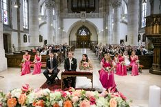 Summer wedding. Ceremony decor for church wedding.  Flower ceremony arches. Pink, Peach, coral, pale pink, blush greenery. Wedding Ceremony Ideas, Ceremony Arch, Ceremony Decorations, Table Decorations, Catholic Wedding, Church Wedding, Bridesmaid Dresses, Wedding Dresses, Arches