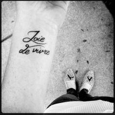 joie de vivre tattoo