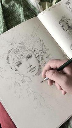 New Ideas For Drawing Sketches Pencil Ideas Design Reference Drawing Sketches, Art Drawings, Sketching, Photographie Portrait Inspiration, Arte Sketchbook, Sketchbook Inspiration, Art Graphique, Pretty Art, Aesthetic Art