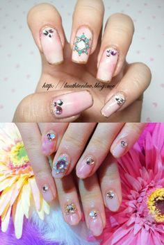 AKB48 Moeno Nito's nailart copy  click through for tutorial (in my korean blog)
