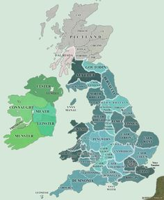 Map of Britain AD 450-600