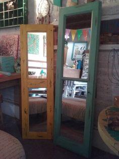 deco espejos reutilizando piezas antiguas de ventanas