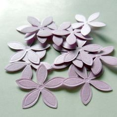 100 Punched  Flowers Die cut Embellishments by CloudNineSupplyShop, $3.00