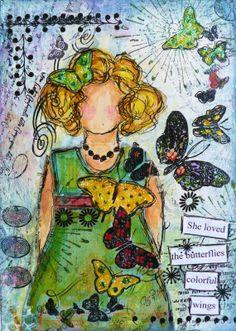 Janie, an Artist on Candy Mountain  April 2011 Journal Creatif, Papillon,  Tableau f87ce57eda95