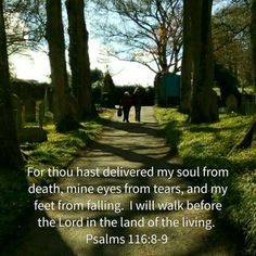 Psalm 116:8-9