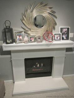 Fireplace remodel - DIY <3