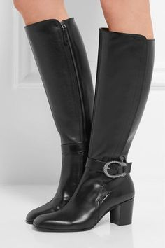Gucci - Dionysus Leather Knee Boots - Black - IT