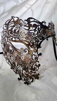 Steampunk-decorated Phantom Mask von HarlansEmporium auf Etsy