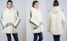 """Купить Шубка женская из натуральной овчины """"калган"""" - зима, кожа, мех, белый, шубка, мода"""