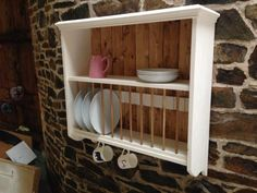 Hand Crafted Solid Wood Plate Rack