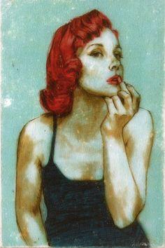 {date night - lipstick} art by Kelly Grace